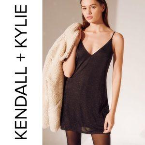 🆕 Kendall & Kylie Black Sparkly Cami Mini Dress